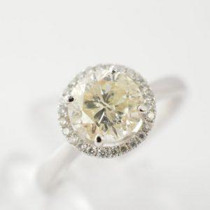 Entourage ring met diamanten