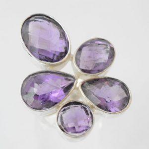 Zilveren ring met Amethist
