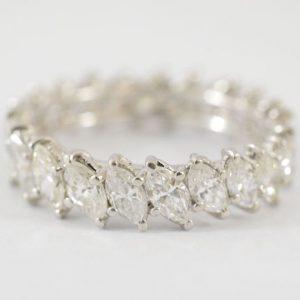 Alliance ring van marquise diamanten