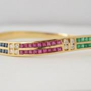 Armband met edelstenen en diamant