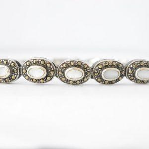 Armband met parelmoer en hematiet