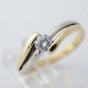 Bicolour Diamonde ring met diamant