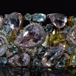 Luxe armband met edelstenen en diamant