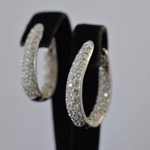 Oorbellen met diamanten