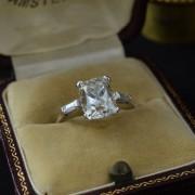 Solitair ring met diamanten