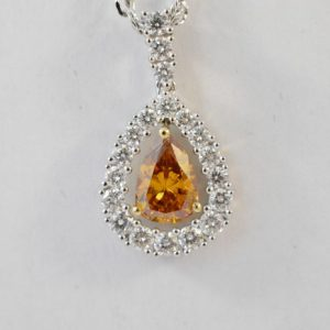 oranje diamant hanger