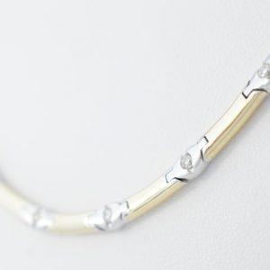 Bicolour collier met diamanten